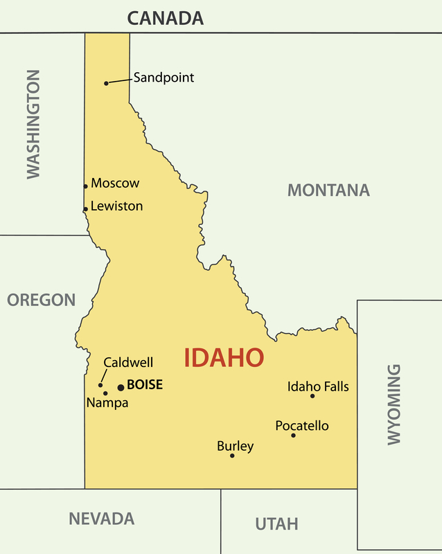 Boise ID City Map Dumpster Rentals